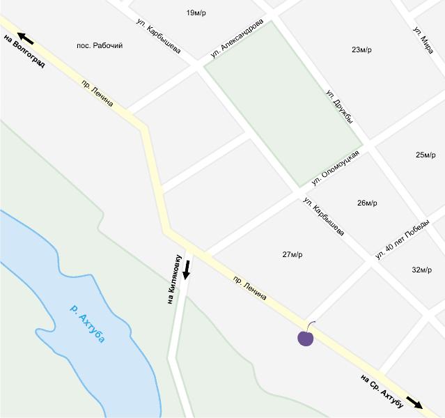 Аквапарк XXI век на карте